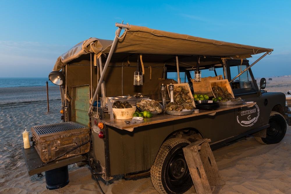 Foodtruck, catering oesters, borrel, bedrijfsfeest oesters,